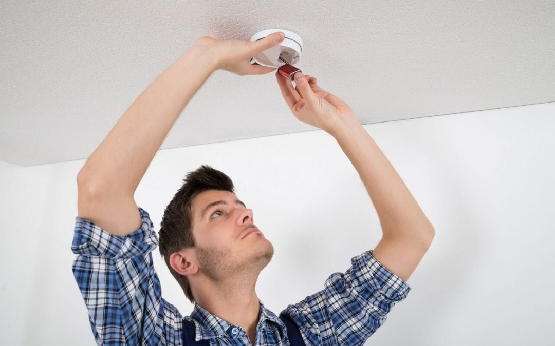 replace smoke detectors batteries improves fire safety in the home
